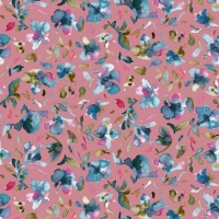 Softshell Digitalprint pretty flowers old rose 06722-004