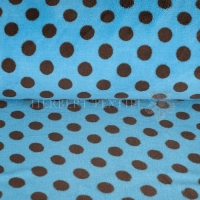 Wellness Fleece dots turquise brown 123139-0806