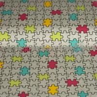 Kids Jersey puzzle grey lime 02796-002