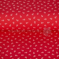 Piqué Polo Maritim print anchor coral red KC2053-215