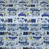 Kids Jersey cars in the city light blue 4440-09