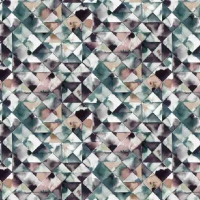 French Terry Digitalprint moody triangle green brown 06688-005