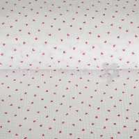 Cotton Hydrofieldoek Mousseline double gauze little hearts white 05448-004