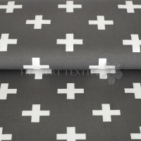 Stenzo Bio-Cotton Jersey big cross grey white 2600-33