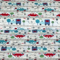 Kids Jersey cars in the city white 4440-02