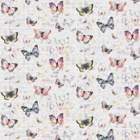 French Terry Digitalprint pretty butterflies ecru 06689-004