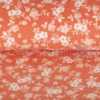 Fleece Flowers salmon/rose 07699-009