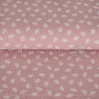 Cotton Hydrofieldoek Mousseline double gauze Ginko rose 04646-003