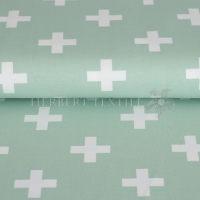 Stenzo Bio-Cotton Jersey big cross mint white 2600-10