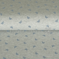 Qjutie Jersey Melange Metallic Print butterfly light blue KC2005-023