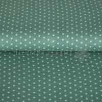 Cotton Hydrofieldoek Mousseline Double gauze crowns dark mint 01854-006