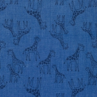 Printed Jeans Chambre giraffes blue 61745