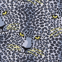 Jersey Printed Panther In Panther grey 63368