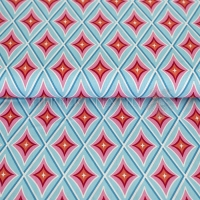 Happiness Summer Cotton circus diamond turquise 02070-001