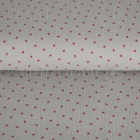 Cotton Hydrofieldoek Mousseline double gauze little hearts grey 05448-001