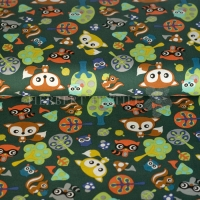 Kiko Spring Cotton forrest animals green 9234-105