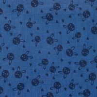 Printed Jeans Chambre rabbits blue 61743