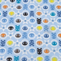 Wachstuch skulls light blue P1001-99