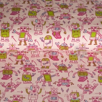 Kids Jersey rolling robots pink 02707-004
