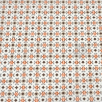Wachstuch orange taupe P1012-13