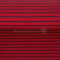 French Terry yarn dyed Sweat stripes red/navy