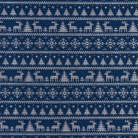 Jersey Printed Knitted Winter Wonderland Blue 63344