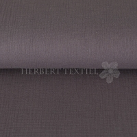 Cotton Hydrofieldoek Mousseline Double gauze uni dark grey 03959-002