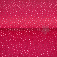Cotton Mousseline double gauze little dots dark fuchsia 04671-021