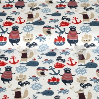 Stenzo Jersey sailor animals white red blue 11620-02