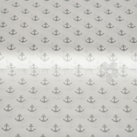 Cotton Maritim glitter anchor white 01868-005