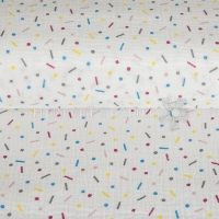 Cotton Hydrofieldoek Mousseline double gauze geomacs white 05450-001