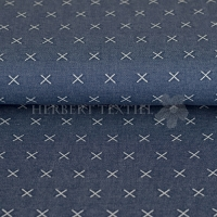 Stenzo Knitwear double face cross blue 2401-15