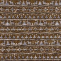 Jersey Printed Knitted Winter Wonderland Mustard 63346