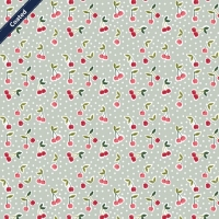 Wachstuch (Coated Cotton) cherry mint C7653-002
