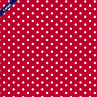 Wachstuch (Coated Cotton) dots red C4949-004