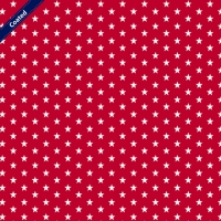 Wachstuch (Coated Cotton) petit stars red C4955-004