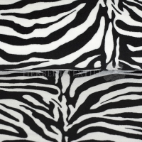 Wellness Fleece animal zebra black white 124081-0801