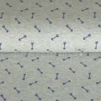 Qjutie Jersey Melange Metallic Print arrows blue KC2005-014