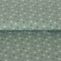 Stenzo Jersey three colours triangles green 16615-10