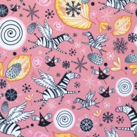 Jersey Printed sweet zebra old pink 62344