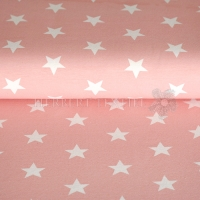 Tricot/Jersey stars 3cm rose 01915-015