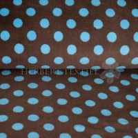 Wellness Fleece dots brown turquise 123139-0805