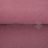 Organic Cotton Fleece Melange dark berry OR8001-019