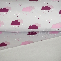 Softshell rain clouds light grey/berry 690047-3003