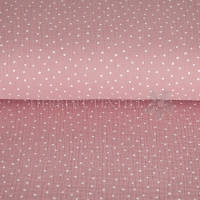 Cotton Hydrofieldoek Mousseline double gauze little dots rose 04671-007