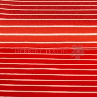 French Terry yarn dyed Sweat stripes red rose 02097-018