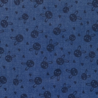 Printed Jeans Chambre rabbits dark blue 61744