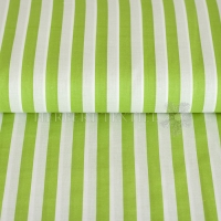Kiko Spring cotton stripes white lime 0355-10