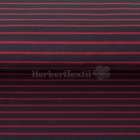 French Terry yarn dyed Sweat stripes navy/red