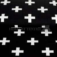 Stenzo Bio-Cotton Jersey big cross black white 2600-20